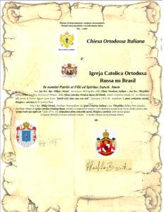 Intercomunione con le Chiese Cattoliche Ortodosse RussaeBielorussadel Brasile